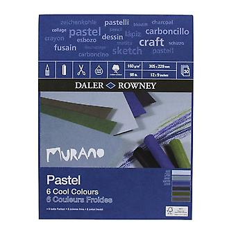 Daler Rowney Murano pastell papper Pad neutrala färger - storlekar som anges
