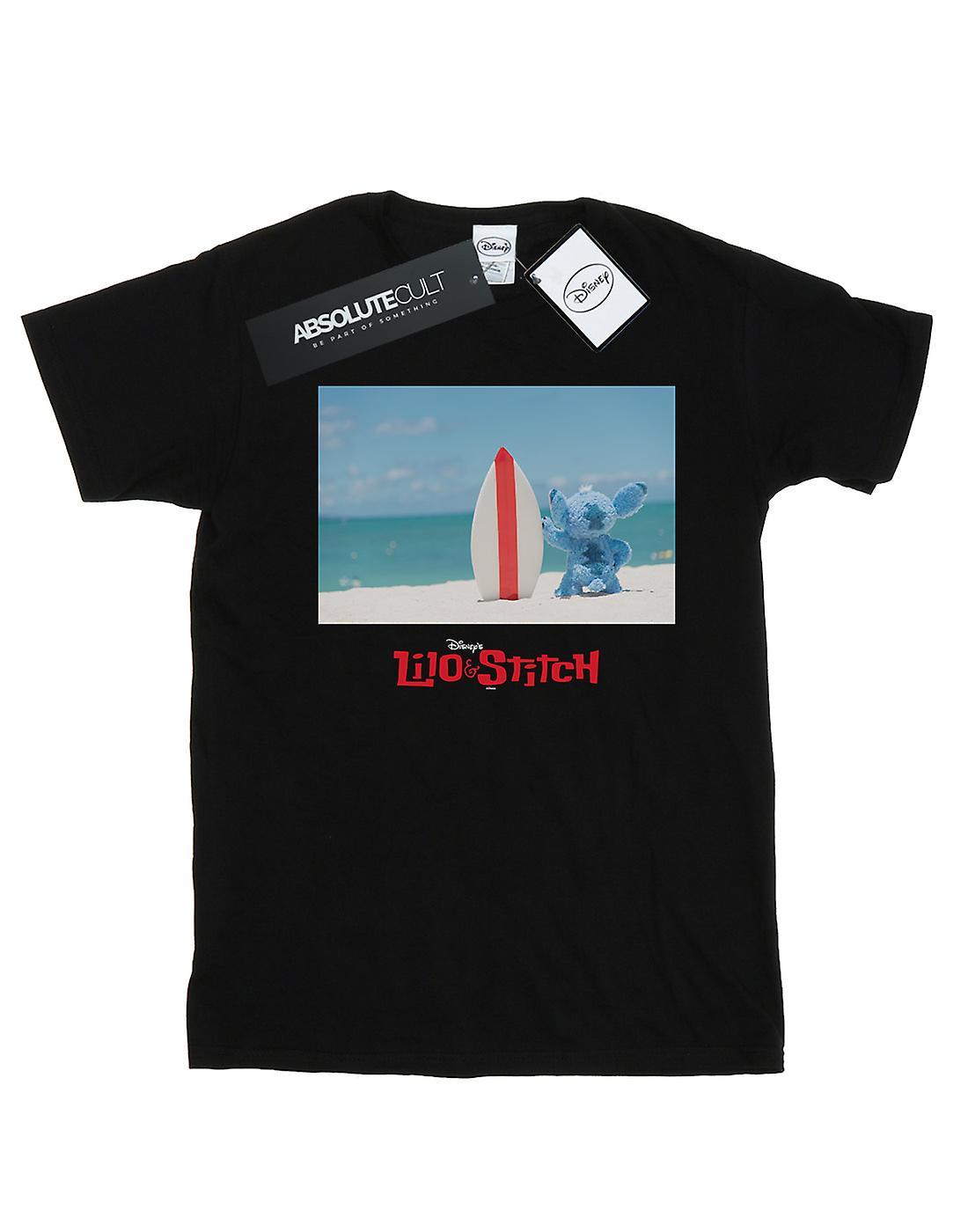 Disney Women's Lilo And Stitch Surf Beach Boyfriend Fit T-Shirt