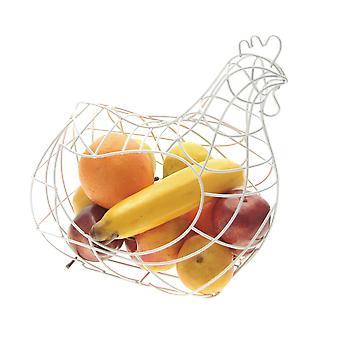 Large Fruit Rack Holder Dispenser Wire Mesh Chicken Shaped, Eggs Basket