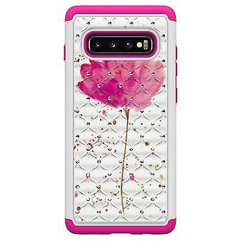 Samsung Galaxy S10+ TPU-Skal Armor Extra Tåligt - Pink Flower