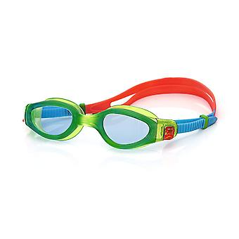 Zogg Unisex barn Phantom Elite Junior svømning beskyttelsesbriller grøn/rød, 6-14 år