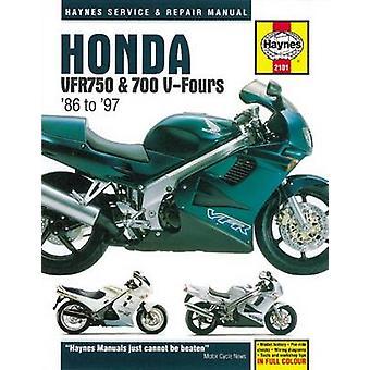 Honda VFR750 & 700 V-Fours Motorcycle Repair Manual - 86-97 by Anon -