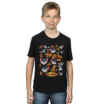 Tom And Jerry Boys Many Faces T-Shirt