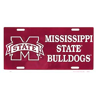 Mississippi State Bulldogs NCAA License Plate