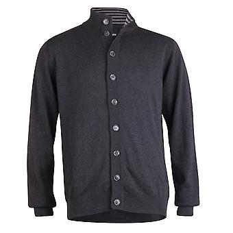 Peter Werth Long Sleeve Button Through Cardigan, Charcoal
