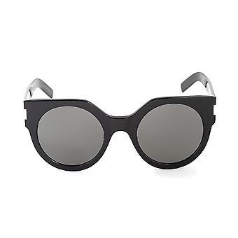 Saint Laurent SL 185 SLIM 001 52 Round Sunglasses
