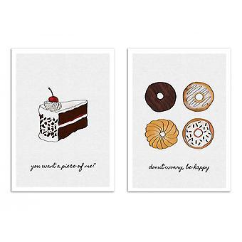 2 Art-Poster - Duo donut and cake - Orara Studio