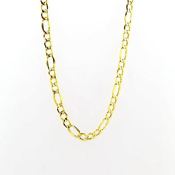 Eternity 9ct Gold 18 ' ' suuri 3 + 1 Figaro Chain