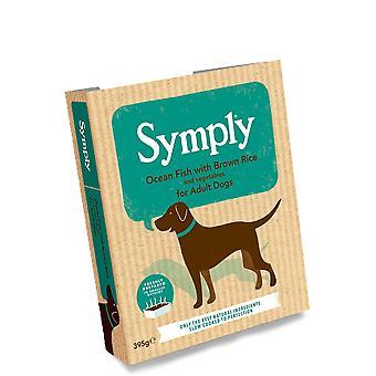 Poisson de mer Symply & riz brun - chiens adultes 395G humide plateaux Single Pack