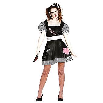 Womens volwassenen Halloween Killer pop fancy dress kostuum