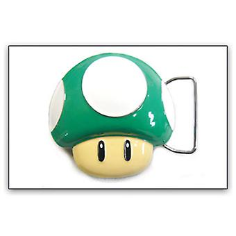 Belt Buckle - Nintendo - New Super Mario Green Mushroom 1up bb132817ntn