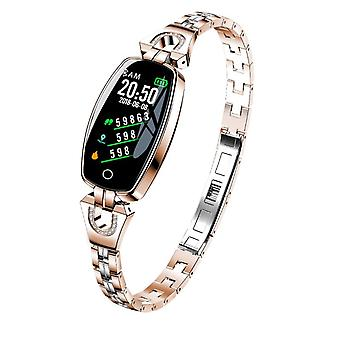 H8 activity bracelet with crystals-rosé gold