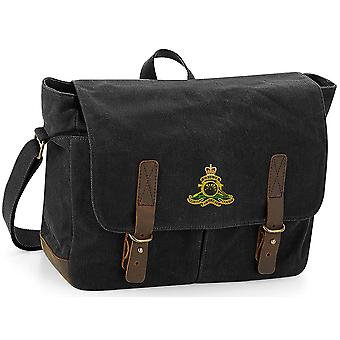 Royal Artillery - Licensed British Army Embroidered Waxed Canvas Messenger Bag