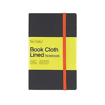 Notes & Dabbles Luna Notebook Lined With Cloth Cover & End Pocket - Various