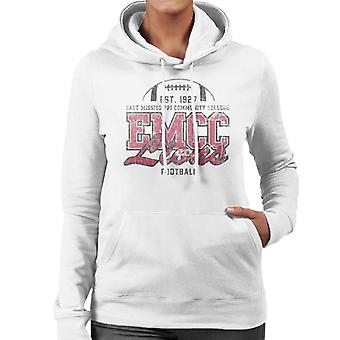 East Mississippi Community College Dark Distressed Lions Women's Hooded Sweatshirt