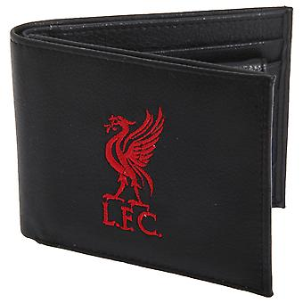 Liverpool FC Mens Official Leather Wallet With Embroidered Football Crest