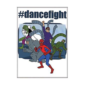 Tegneserie Spider-Man Dance Fight magnet