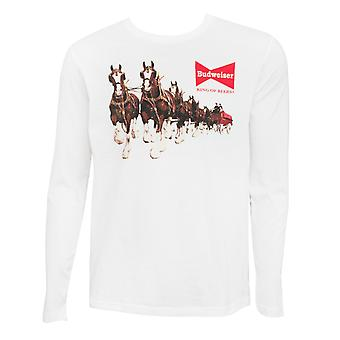 Budweiser Clydesdale Long Sleeve White Tee Shirt