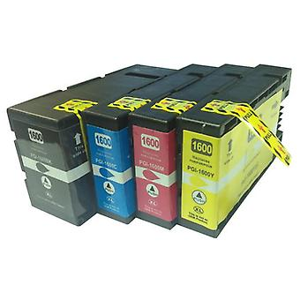 PGI-1600XL Premium Pigment Compatible Inkjet Cartridge Set