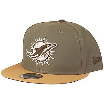 New Era 9Fifty Snapback Cap - Miami Dolphins olive / tan