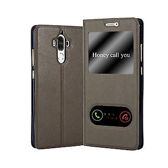 Huawei MATE 9ケースカバー用カドラボケース - 磁気留め金付き電話ケース、スタンド機能と2の表示窓 - ケースカバー保護ケースブック折りたたみスタイル