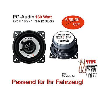 PG Audio EVO II 10.2,2-Wege Koax-System, Daewoo,Daihatsu,Hyundai,Honda