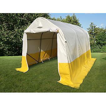 Tente de stockage PRO 2x3x2m, PVC, blanc/jaune, retardateur de flammes