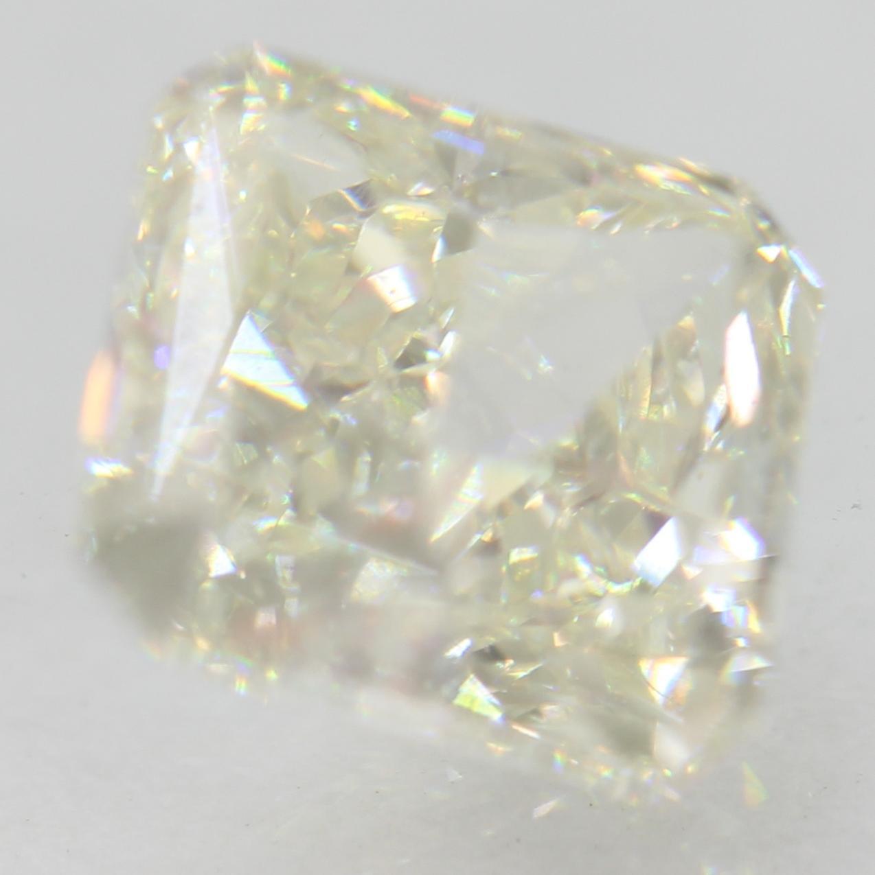 Certified 1.63 Carat H VS2 Radiant Enhanced Natural Loose Diamond 6.62x6.53m 2EX