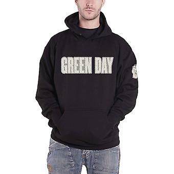 Green Day Hoodie Band Logo Applique new Official Mens Black Pullover Black