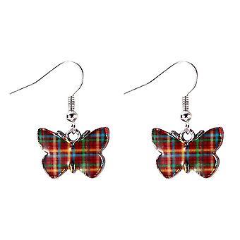 Flutter By Butterfly Tartan Drop Earrings