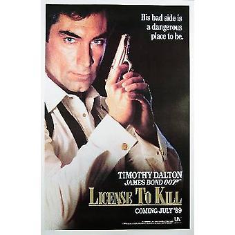 Licence To Kill (Single Sided Advance) Original Cinema Poster