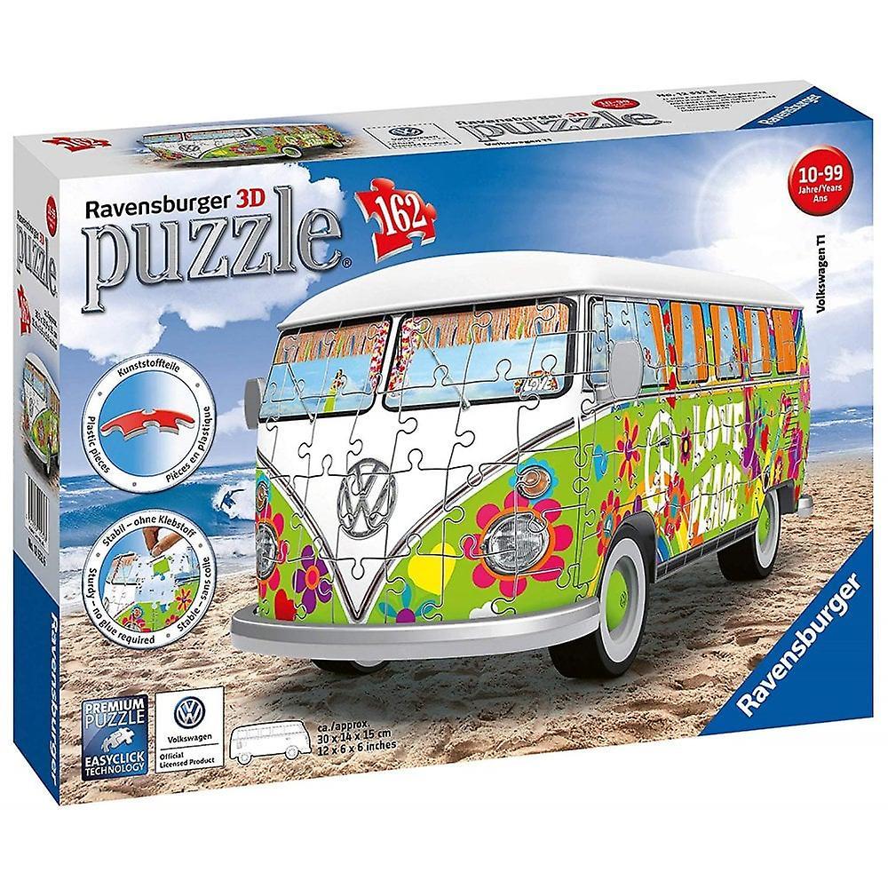 Ravensburger VW T1 Hippie Hippy Campervan Bus 3D Jig Saw Puzzle