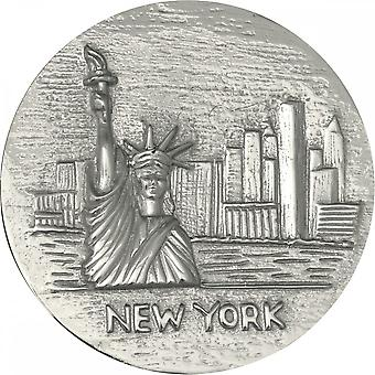 Nikki Lissoni New York Statue Of Liberty Large Silver Coin C1145SL
