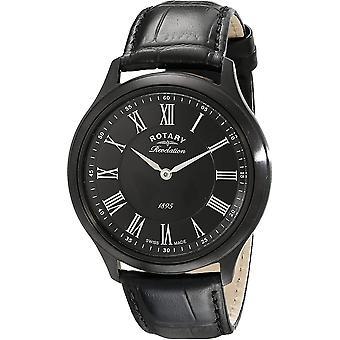Rotary GS02968-10-19 Mens Revelation All Black Wristwatch