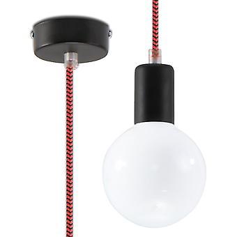 Sollux EDISON 1 Light Ceiling Pendant Black & Red SL.0158
