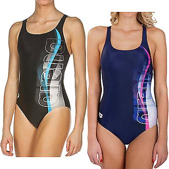 arena Womens Fogo One Piece V Back Pool Training Swim Swimming Swimsuit Costume