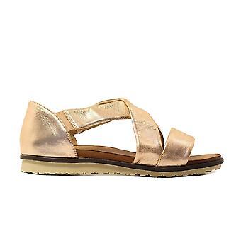 Remonte R2755-31 gouden lederen Womens pull op sandalen