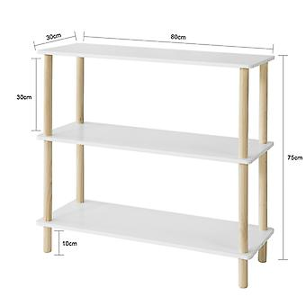 SoBuy 3 Tiers Storage Display Shelf Rack Standing Shelf Unit,STR02-WN