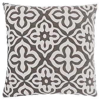 """18"""" x 18"""" Dark Taupe, Motif Design - Pillow"""