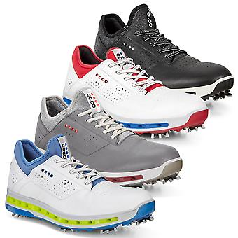 ECCO mens cool GoreTex lederen waterdichte prestaties comfort golf schoenen