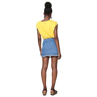 Desigual Women's Leiria Tropical Denim Wrap Skirt