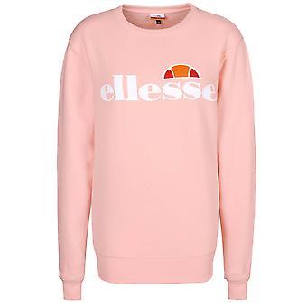 Ellesse Heritage Agata Womens Retro Fashion Crew Sweatshirt Jumper Light Pink