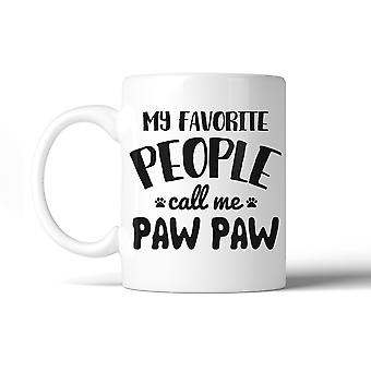 Favorite People Paw Paw 11 Oz Ceramic Coffee Mug Adorable Dog Dad