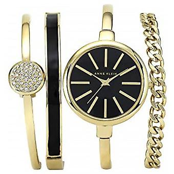Anne Klein AK-N1470GBST Box - Crystal Watch Swarovski Steel Bracelet Dor Bo tier Aluminium Dor Femme - Bracelets Jewelry