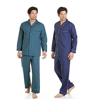 هايجمان رجالي سهلة الرعاية بيجاما طويلة صالة ارتداء (حزمة من 2)