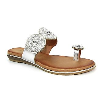 Lunar Oyster Glitz tå slinga sandal