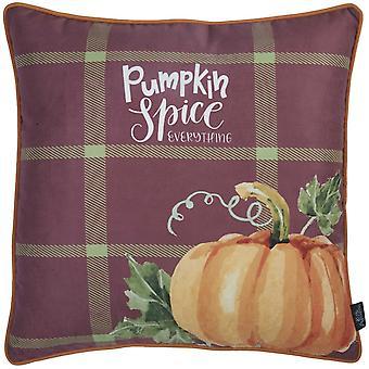 "18""x18"" Thanksgiving Pumpkin Printed Decorative Throw Pillow Cover"