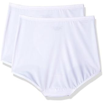 Bali Women's Shapewear Tummy Panel Brief Firm Control 2-Pack,, White, Size 2.0