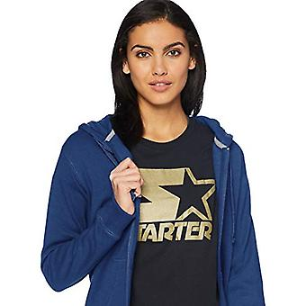 Starter Women's Standard Solid Full-Zip Hoodie, Team Navy, Large