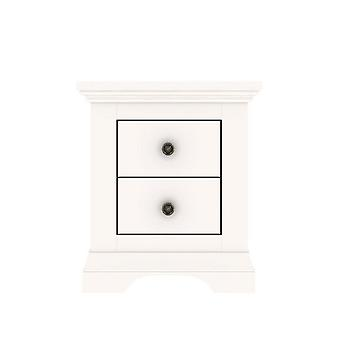 Normandy 2 Drawer Bedside Chest in White Ready Assembled